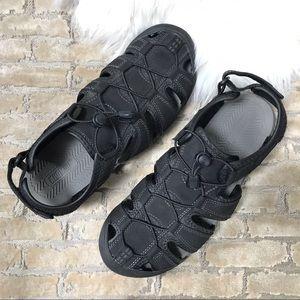 KHOMBU Travis Black Sport Hiking Sandal EUC Sz 11
